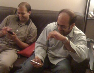 Habeeb Saab is amazed at how much more advanced the iPhone is compared with what is developed at his current employer